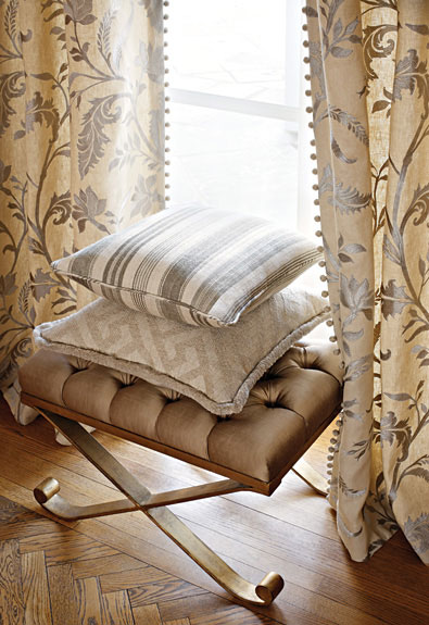 Schumacher Monceau Linen in Zinc